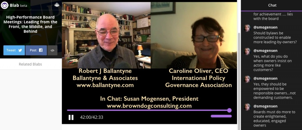 Blab 2016mar23 with Robert Ballantyne, Caroline Oliver, and Susan Mogensen